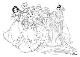 Rapunzel Con Le Amiche Principesse Disegni Da Colorare Gratis