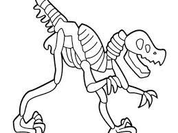 Dinosaur Skeleton Coloring Pages Casa Sanmarino