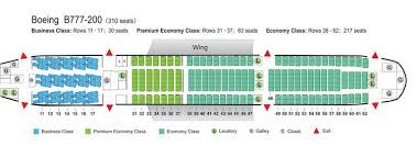 air china airlines boeing 777 200 aircraft seating chart