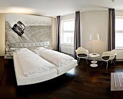 Silver Wallpaper For Bedroom Minimalist Bedroom For Two With White Bed Design Silver Headboard