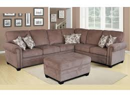 3 pc sectional chenille brown