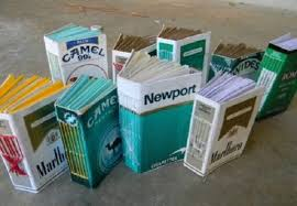 Pin On Made From Cigarette Boxes