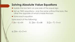 4 solving absolute value equations