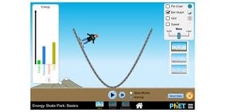 energy skate park basics conservation of energy kinetic energy potential energy phet interactive simulations