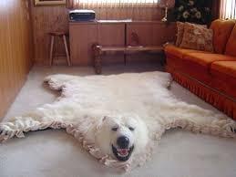 faux polar bear rug faux polar bear skin rug with head
