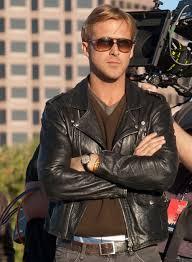 ryan gosling to leather jacket