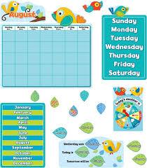 <b>Boho Birds</b> Calendar Bulletin Board Set