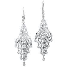 long diamond chandelier earrings