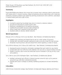 Resume Templates: Relationship Banker