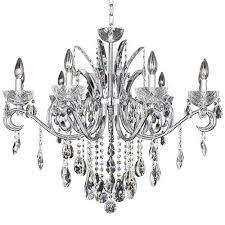allegri by kalco catalani chrome nine light 34 inch wide chandelier with firenze clear crystal
