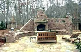 masonry fireplace cost of outdoor brick stone construction out