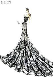 Elie Saab Sketch Fashion Drawing Fashion Design Sketches Dress