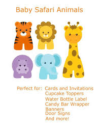 baby animal clipart borders. Simple Animal This Printable Jungle Border Is Populated With Cute Happy Animals To Baby Animal Clipart Borders