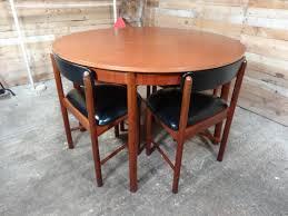 teak retro furniture. 4 English Mcintosh Chairs And Teak (extendable) Table Retro Furniture