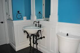 wainscoting america 1 2 bathroom with kohler iron works sink