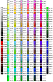 Java Color Chart Realapplets