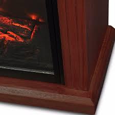 large room electric quartz infrared fireplace heater deluxe mantel oak walnut product description