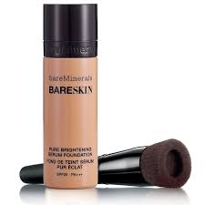 get ations bare escentuals bareminerals bareskin 2 items foundation makeup kit pure brightening serum foundation bare tan