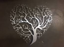 tree heart metal photo pic wall art metal home decor ideas for most popular 3d