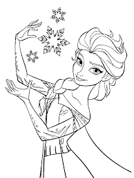 Small Picture Elsa the Snow Queen Making Snowflakes Coloring Page by years old