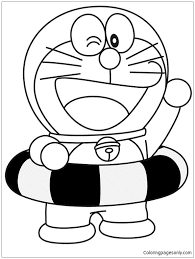 Doraemon coloring page from miscellaneous anime & manga category. Doraemon Is Going Swimming Coloring Page Free Coloring Pages Online
