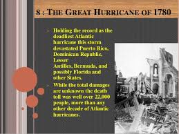 Image result for Great Hurricane of 1780