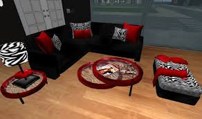 zebra print bedroom furniture. Second Life Marketplace Modern Red Black And Zebra Print Living . Room Furniture Bedroom