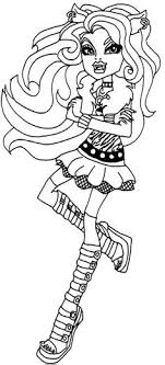 Small Picture Clawdeen Wolf Shows Something Coloring Pages Monster High