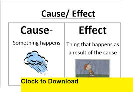 Casue And Effect Cause And Effect Print Worksheets