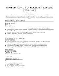 Housekeeping Skills Resume Resume Templates Housekeeping Supervisor
