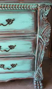 distressed furniture ideas. aqua turquoise distressed french armoire dresser with aged copperebony patina furniture ideas