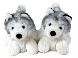 stuffed wolves at walmart siberian husky dog slippers