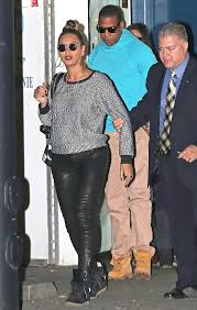 showbiz royalty the 31 year old singer rocked a pair of black leather