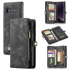 for samsung galaxy s10 plus leather wallet case flip phone cover bag retro with credit card holder galaxy s10e
