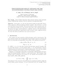 pdf preconditioned krylov methods for the incompressible navier stokes equations