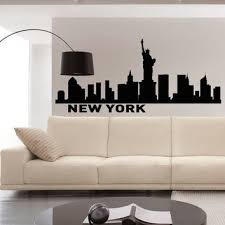 wall decals vinyl stickers new york city skyline silhouette art on new york skyline wall art stickers with best new york skyline wall decor products on wanelo