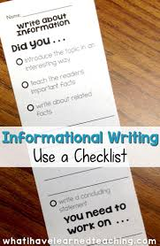 teach students to use a checklist informational writing week  are your students creating disorganized paragraphs when writing about information or expository text out