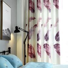 Curtain Patterns Impressive Single Panels Purple 48D Curtains For Living Room Kids Decoration