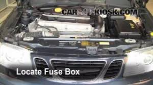 interior fuse box location 1999 2009 saab 9 5 2005 saab 9 5 arc blown fuse check 1999 2009 saab 9 5