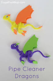 Here's a simple craft that kids will love  Pipe Cleaner Dragons!