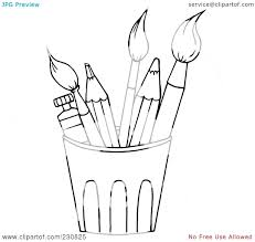 Paint Brush Coloring Page Whitegardenclub