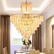 led modern crystal chandelier american gold chandeliers lights fixture home indoor lighting dining room hotel hall restaurant led lamps