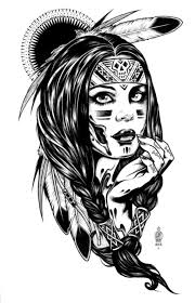 Coloring Pages Coloring Adult Native Indian American Woman Dans
