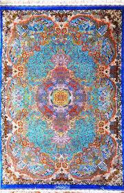 intricate pure silk 3x5 blue topaz by master moghaddam silk persian rug