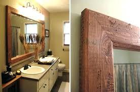 wood frames for bathroom mirrors wooden framed wall mirrors wood frame bathroom mirror and tile maple wood framed bathroom mirrors