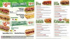subway menu prices. Simple Subway 3 Ways Quiznos Can Fix Its Biggest Problem And Subway Menu Prices M