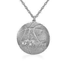 basketball name engravable pendant 1 line personalized necklaces create your own zales