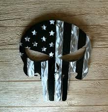 metal wall art punisher skull american
