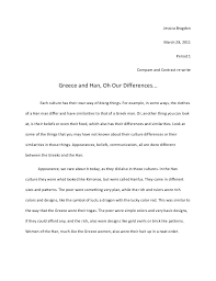 Outline Of Compare And Contrast Essay Example Of Contrast And Comparison Essay Dew Drops