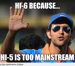 Because Hi-5 is so mainstream - LOL Indian - Funny Indian Pics and ... via Relatably.com